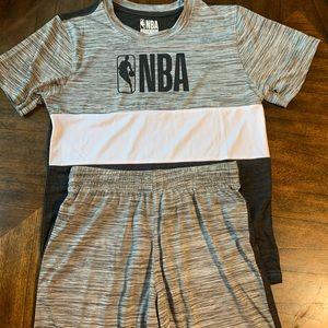 NBA youth clothes matching set